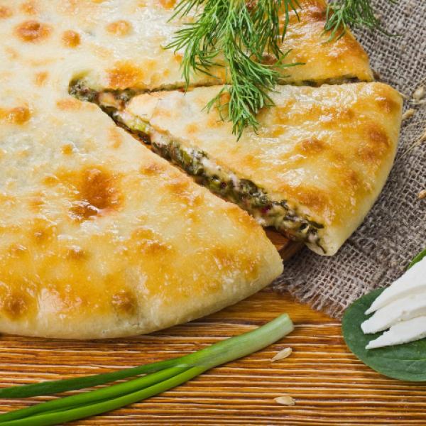 Пирог маленький сыр-шпинат 500 гр.
